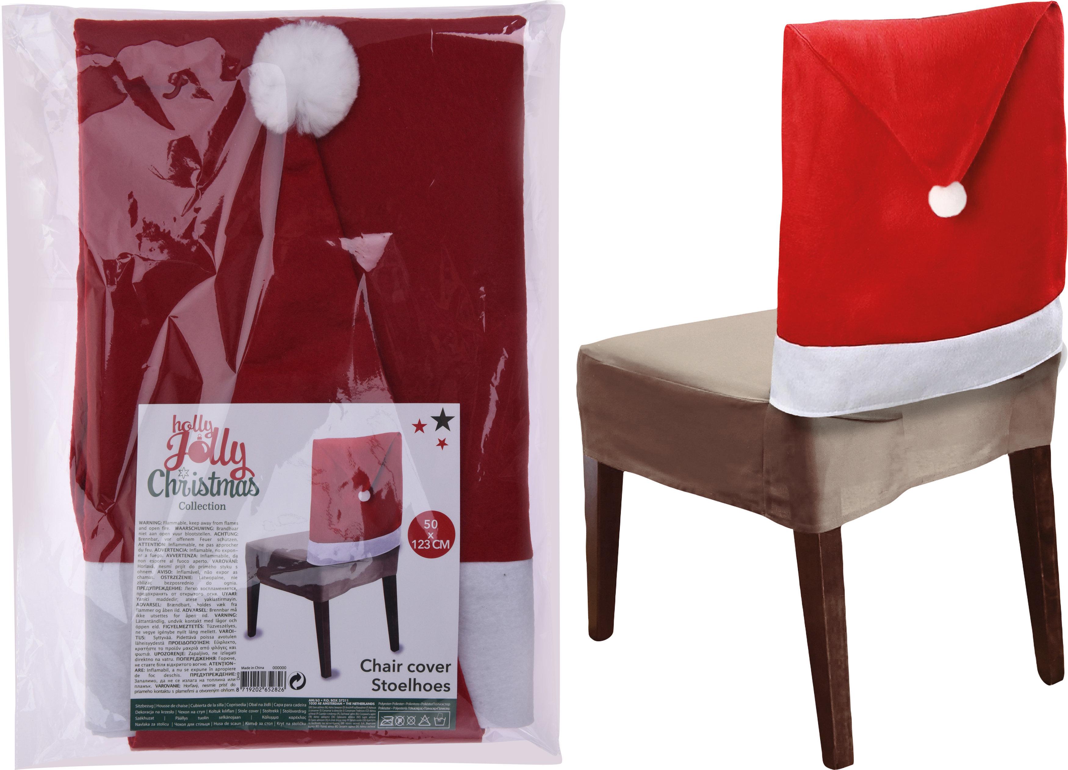 Kalėdinė kėdės dekoracija Kepurė 50x123 cm