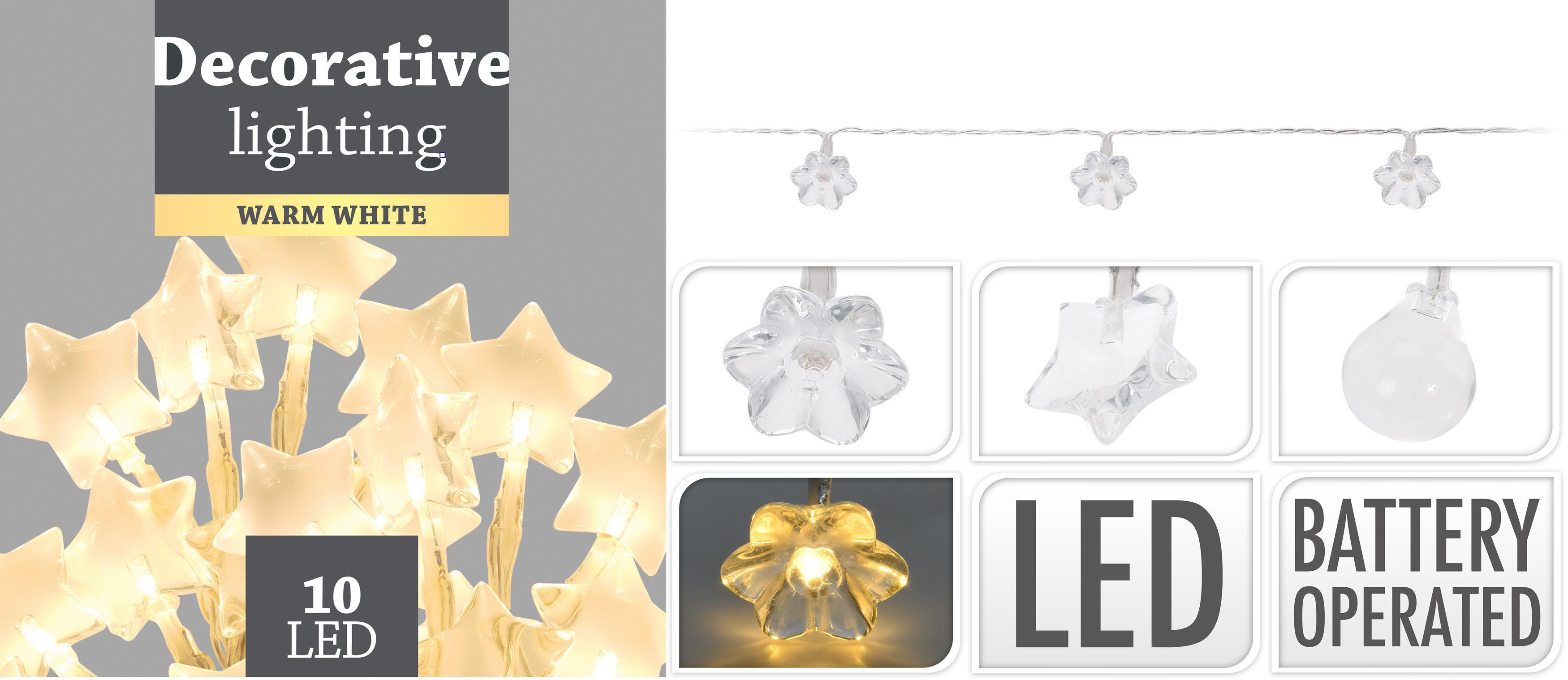 Šviečianti kalėdinė dekoracija Girlianda, 10 LED