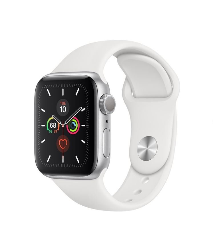 Apple Watch 5, 44 mm, White/Silver Aluminum
