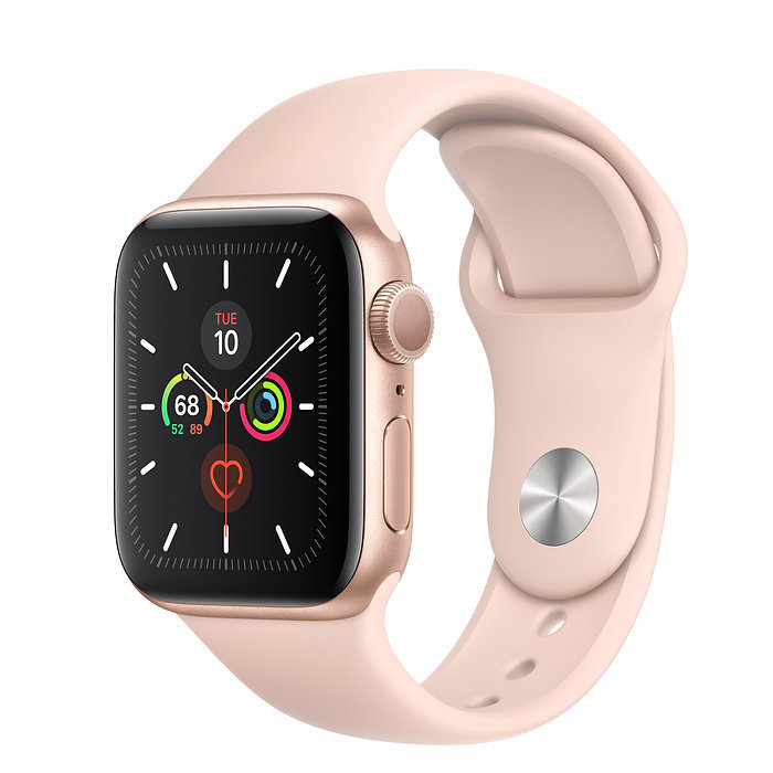 Apple Watch 5, 40 mm, Pink Sand/Gold Aluminum