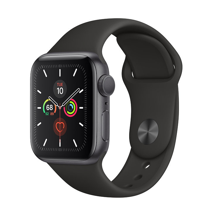 Apple Watch 5, 44 mm, Black/Space Gray Aluminum