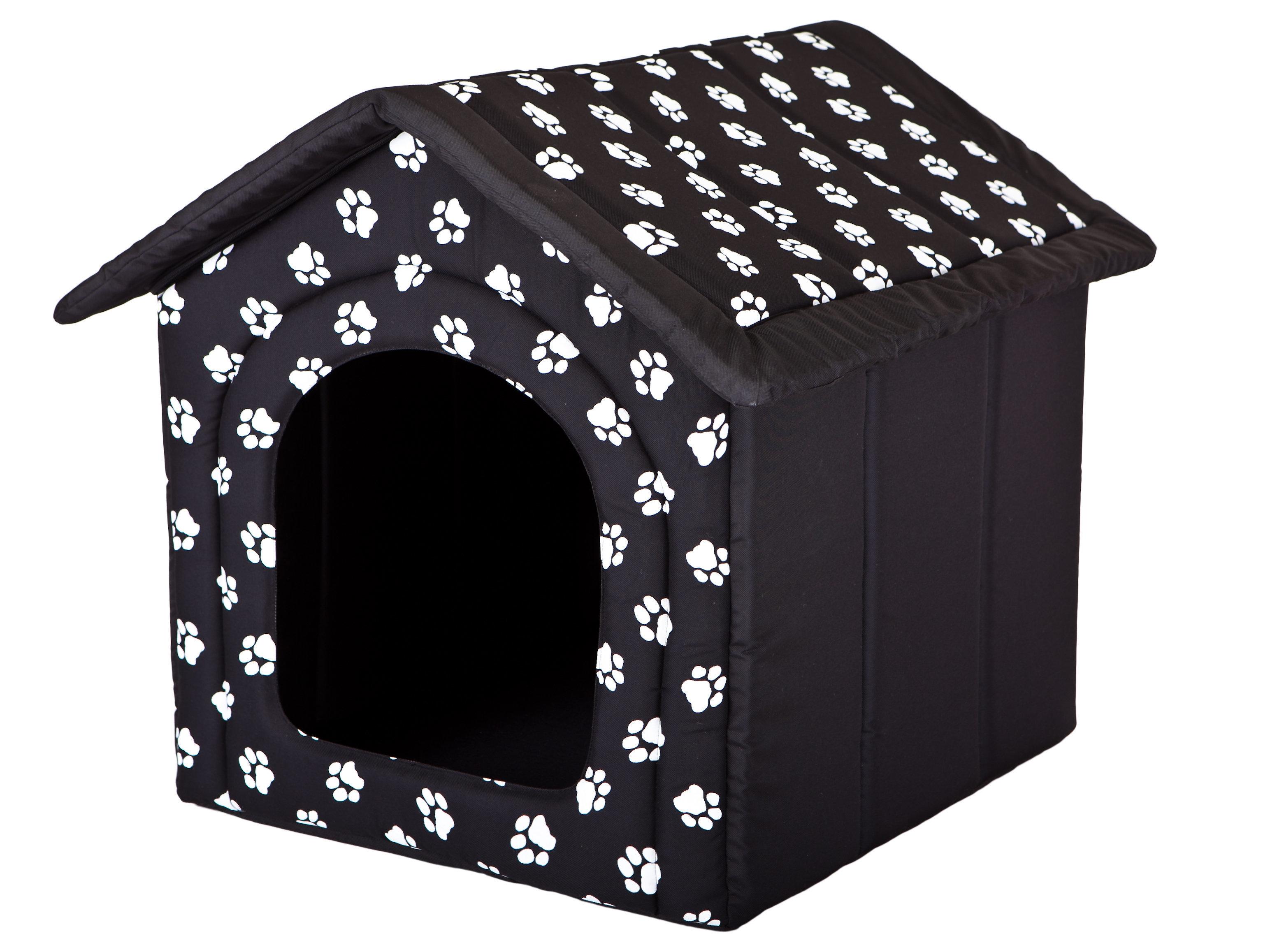 Guolis-būda Hobbydog R4 pėdutės, 60x55x60 cm, juodas