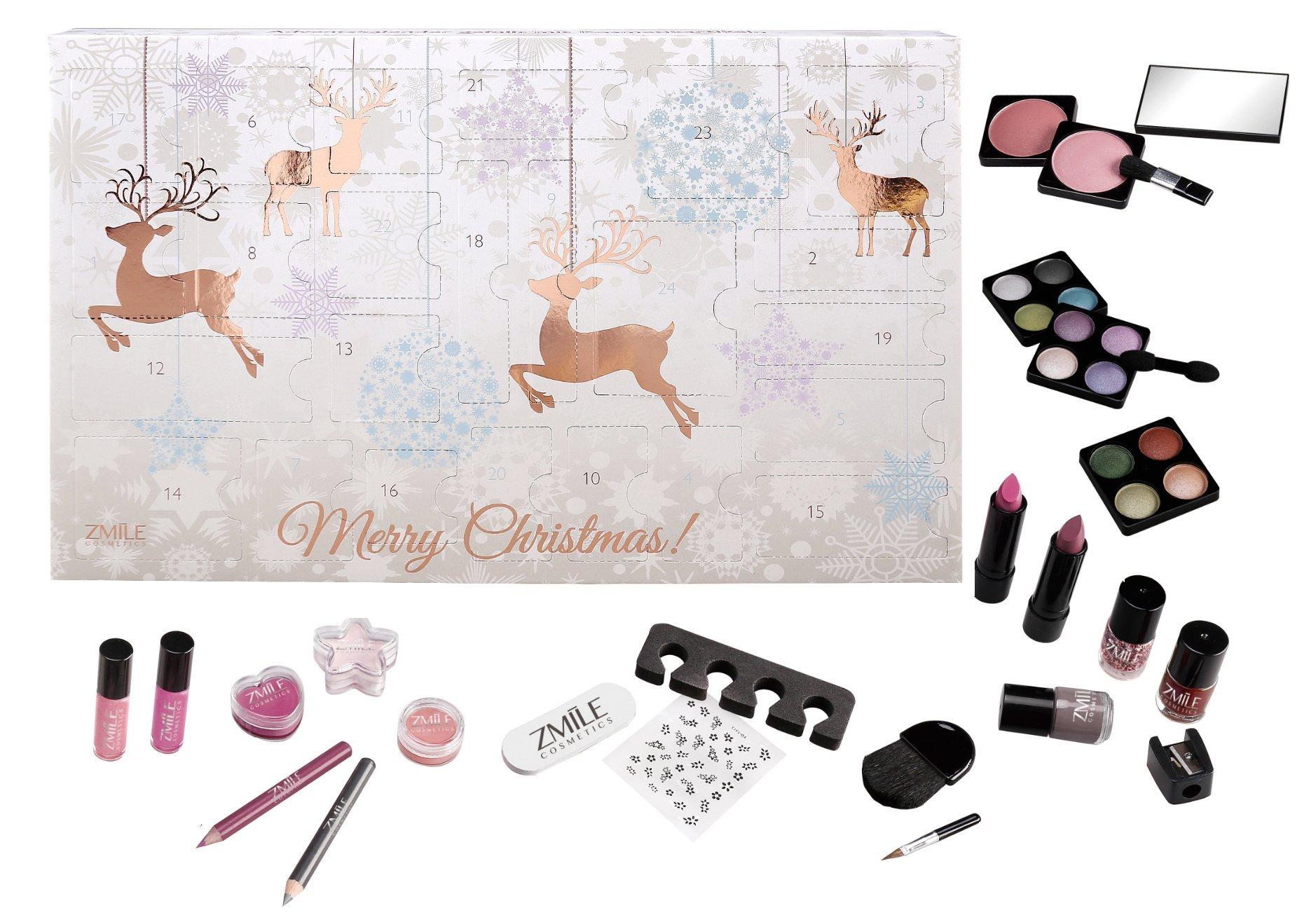 Advento kalendorius - kosmetikos rinkinys Zmile Cosmetics Rentiere Rosegold