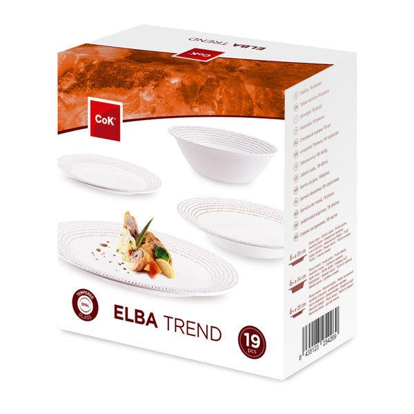 Cok pietų servizas Elba Trend, 19 dalių