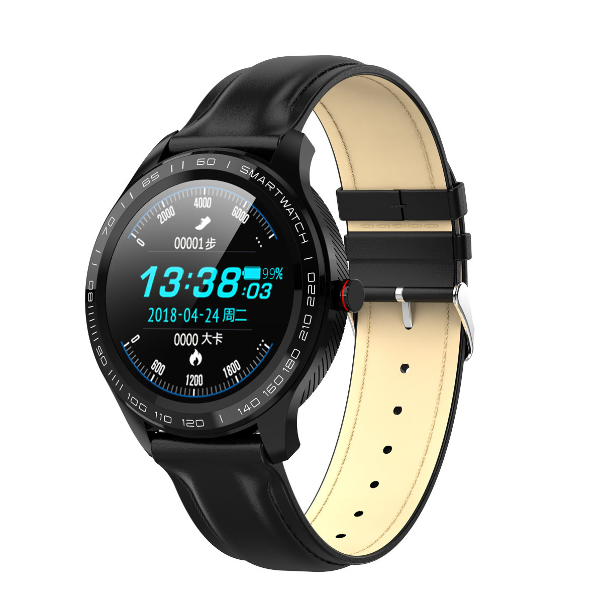 Microwear L9 ECG, Black Leather