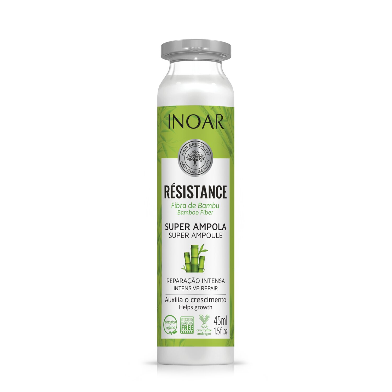 Ampulė pažeistiems plaukams INOAR Resistance Fibra de Bambu Ampola 45 ml
