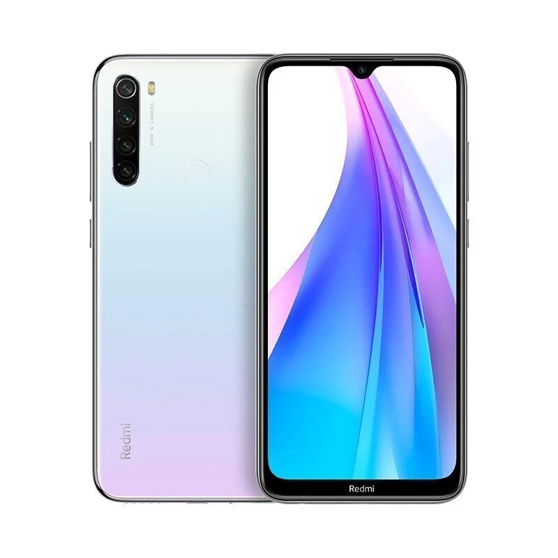 Xiaomi Redmi Note 8T 128GB, Dual SIM, Balta (Moonlight White)