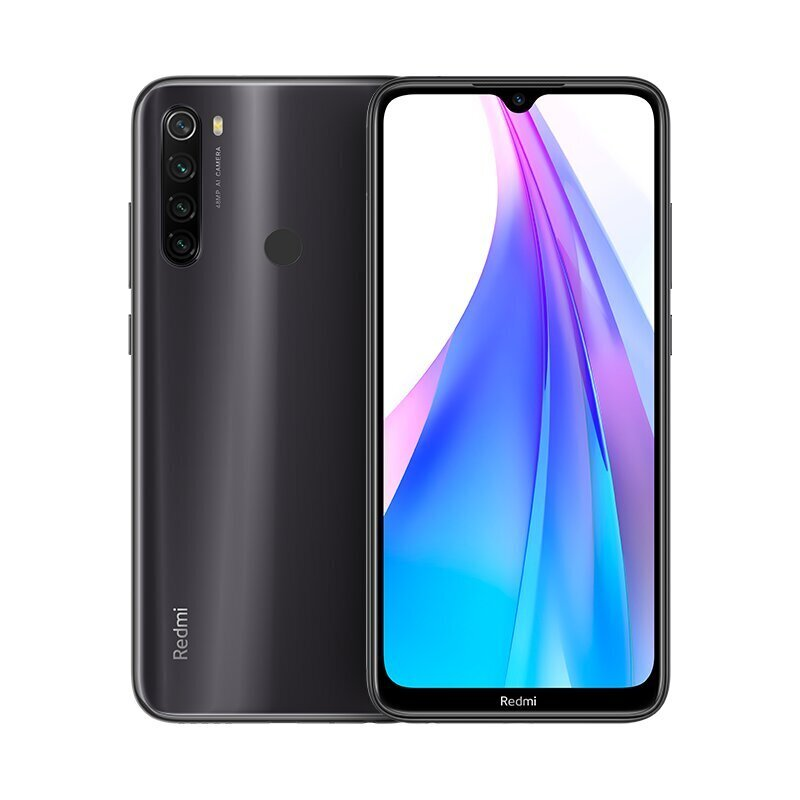 Xiaomi Redmi Note 8T 128GB, Dual SIM, Juoda (Moonshadow Gray)