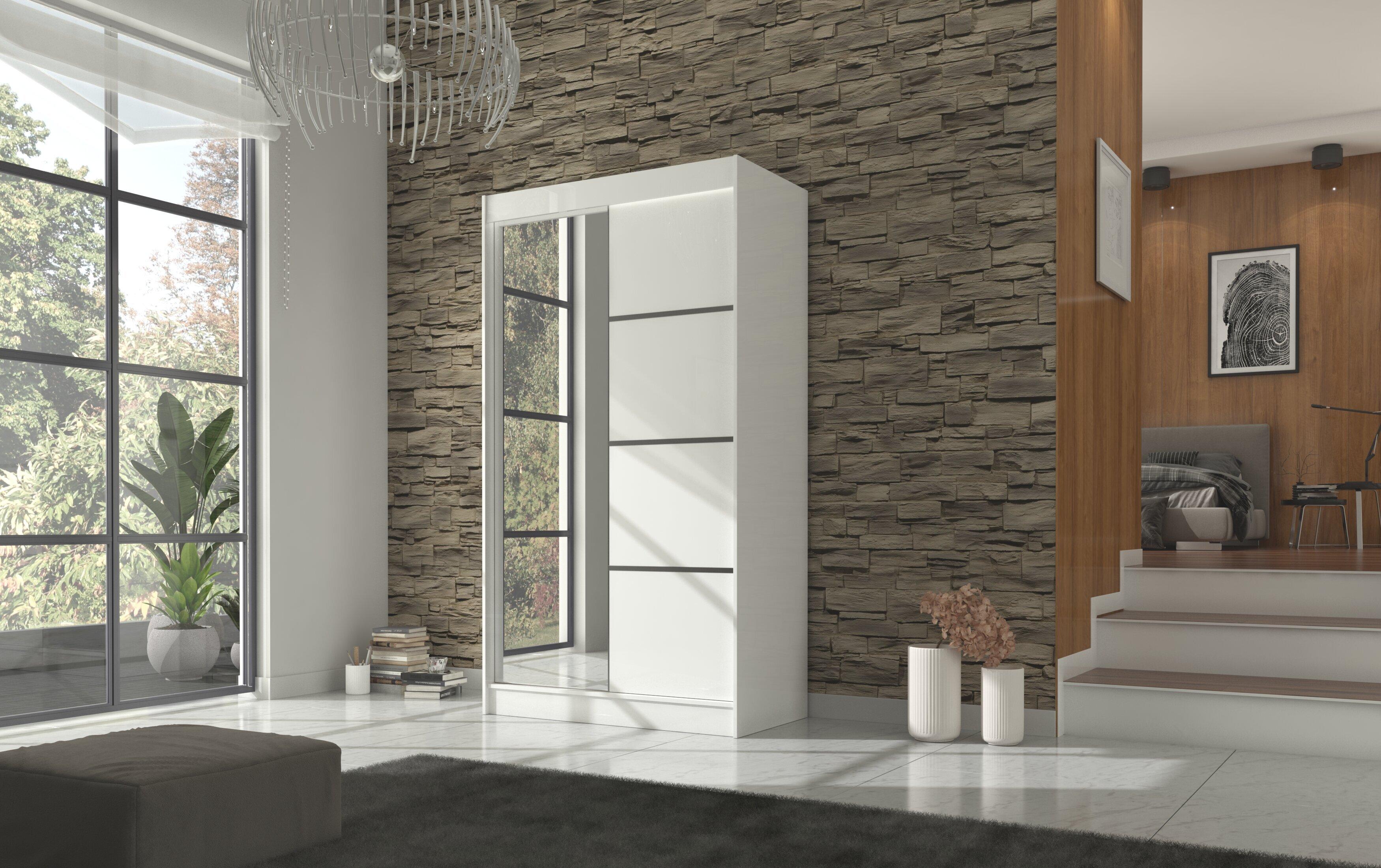 Spinta Adrk Furniture Gilton 120 cm, balta
