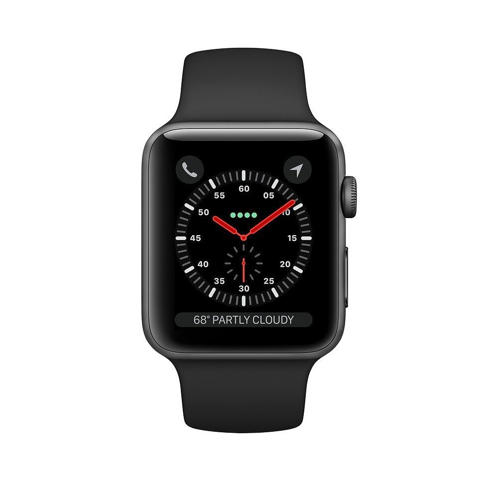 Apple Watch S3 + Cellular, 42 mm, Black/Space Gray Aluminum