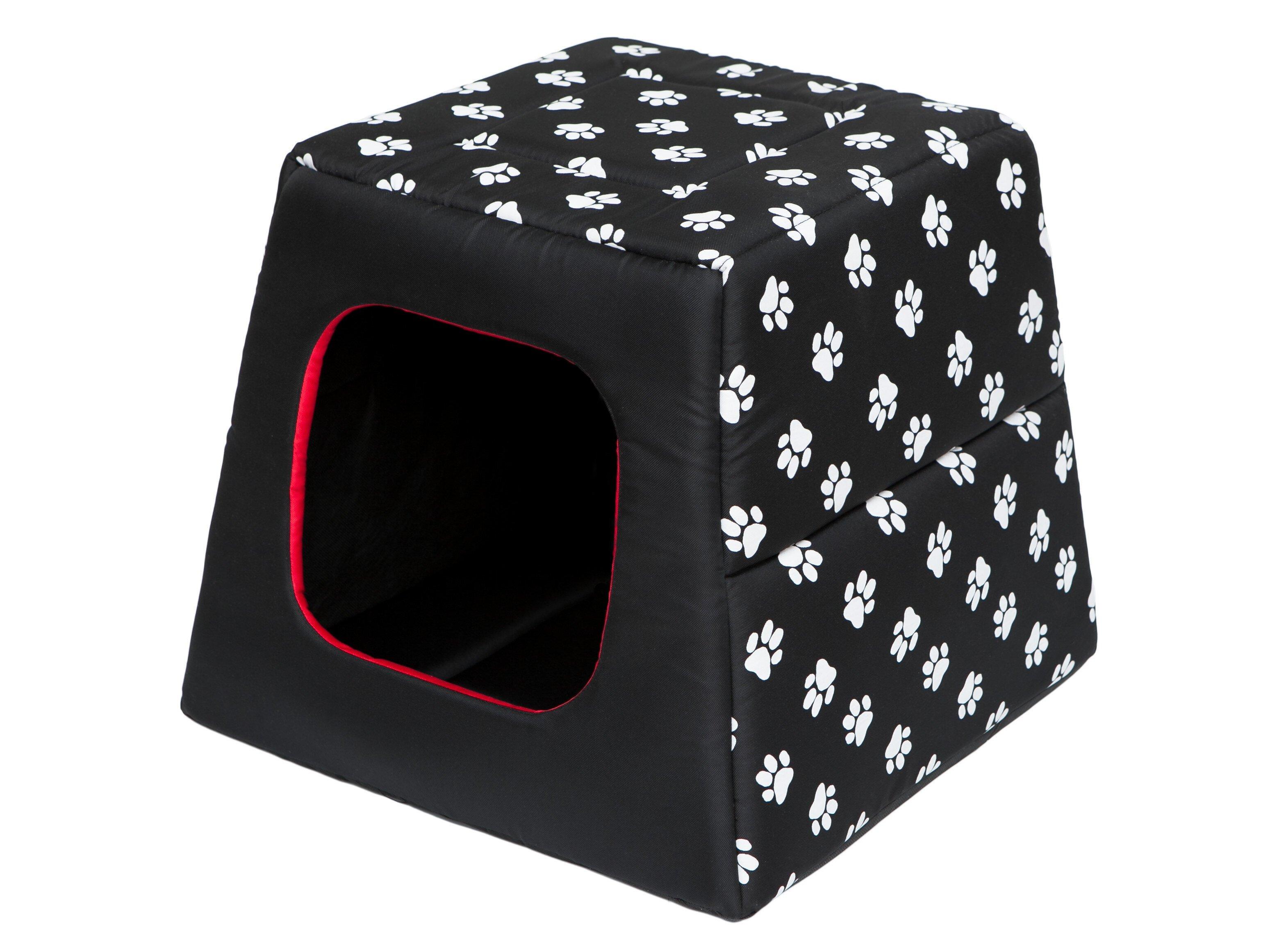 Hobbydog būda-guolis Piramidė R1, juoda