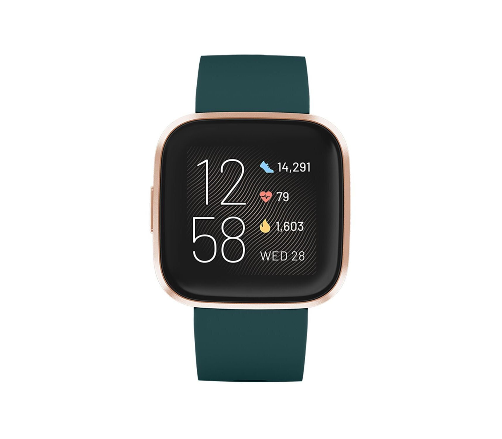 Fitbit Versa 2 (NFC), Emerald/Copper Rose Aluminium