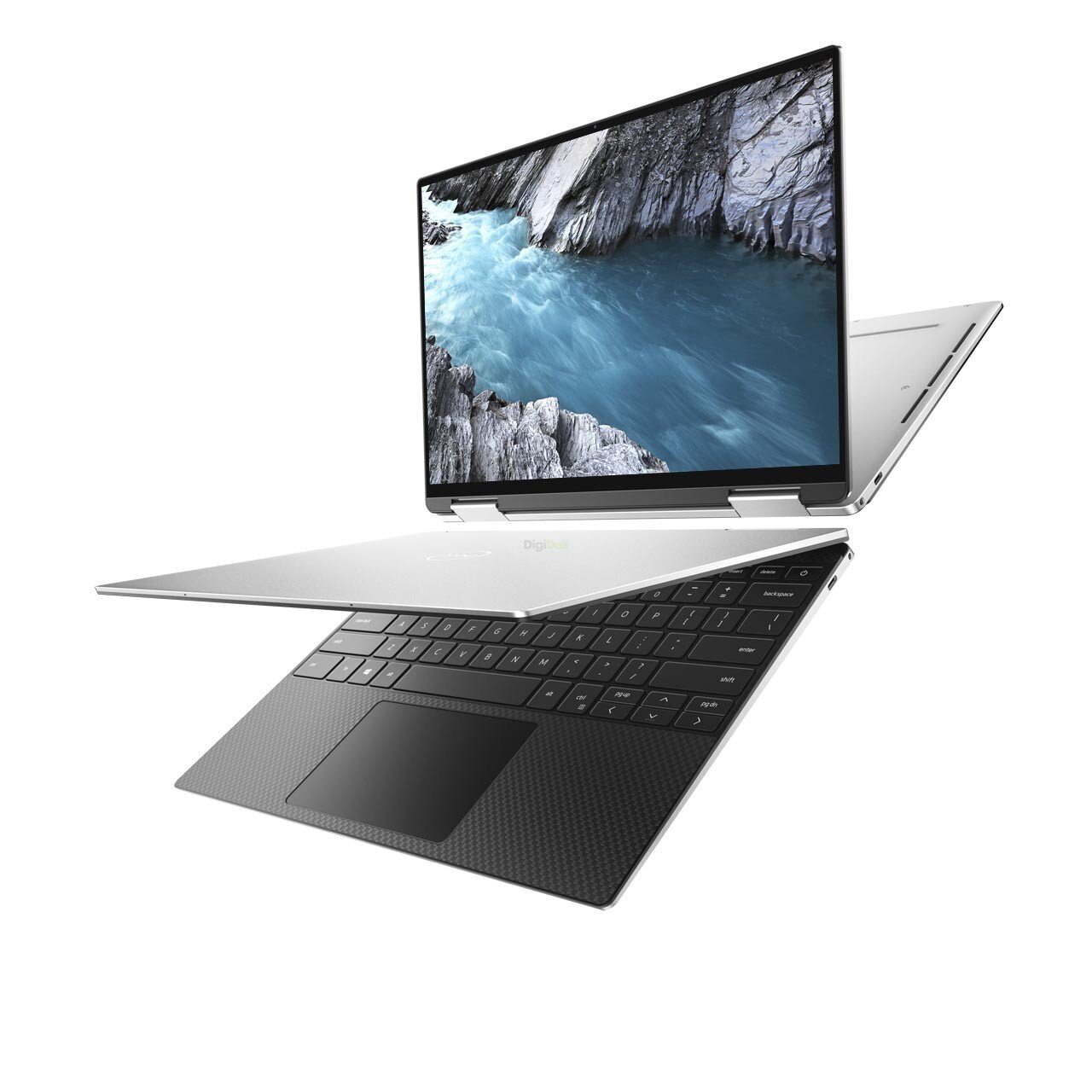 Dell XPS 13 7390 2-in-1, UHD+ Touch, i7-1065G7, 32GB, 1TB, W10, Silver