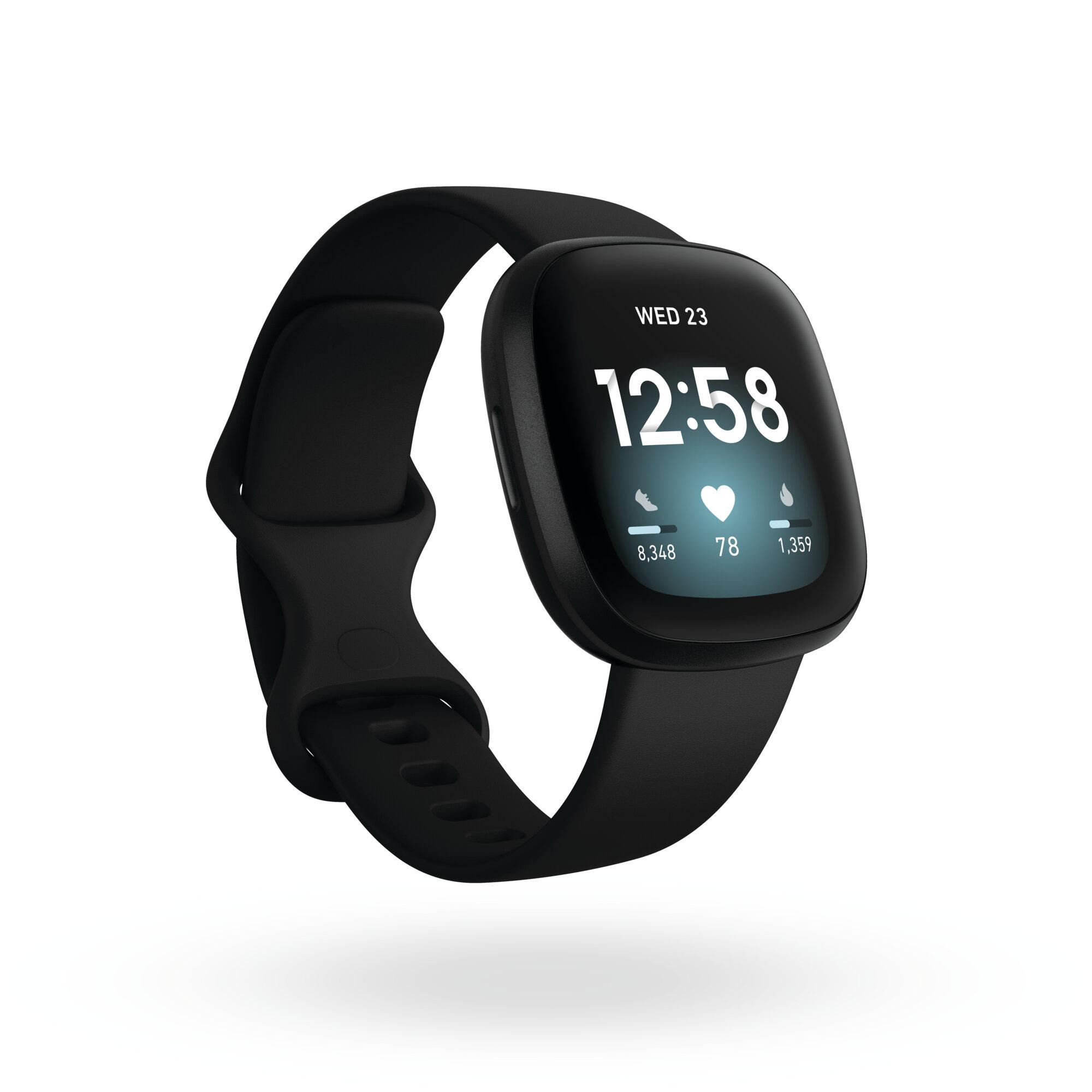 Fitbit Versa 3, Black Aluminum