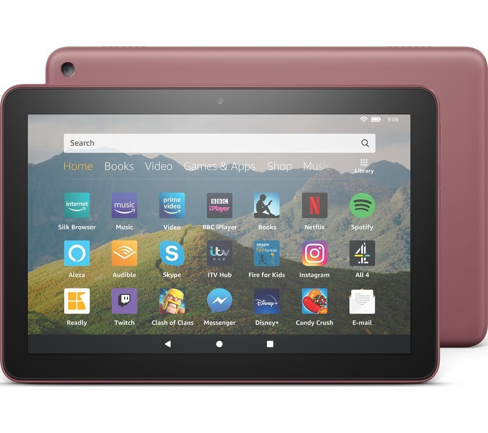 """Amazon Fire HD 8"""" 32GB WiFi/special offers/Fire OS (be LT kalbos), Violetinė"""