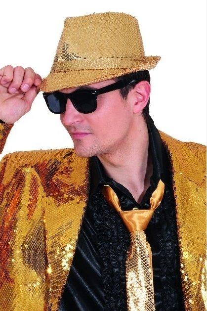 Disko skrybėlė Auksinė