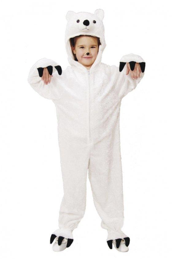 Baltos meškos kostiumas