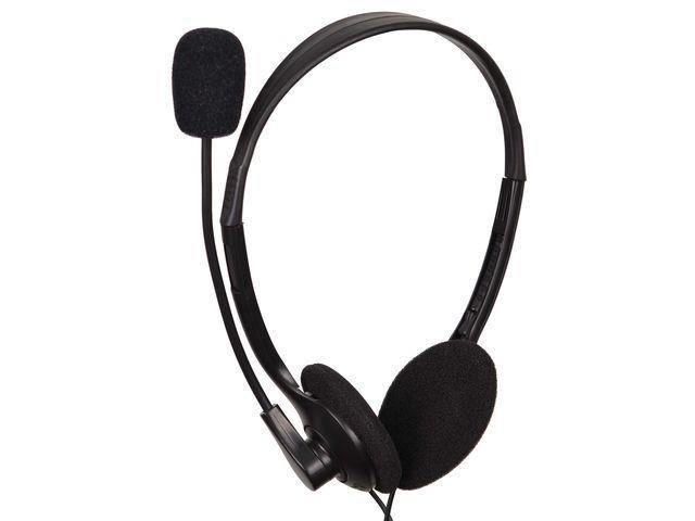 Gembird microphone & stereo headphones MHS-123 with volume control, black color