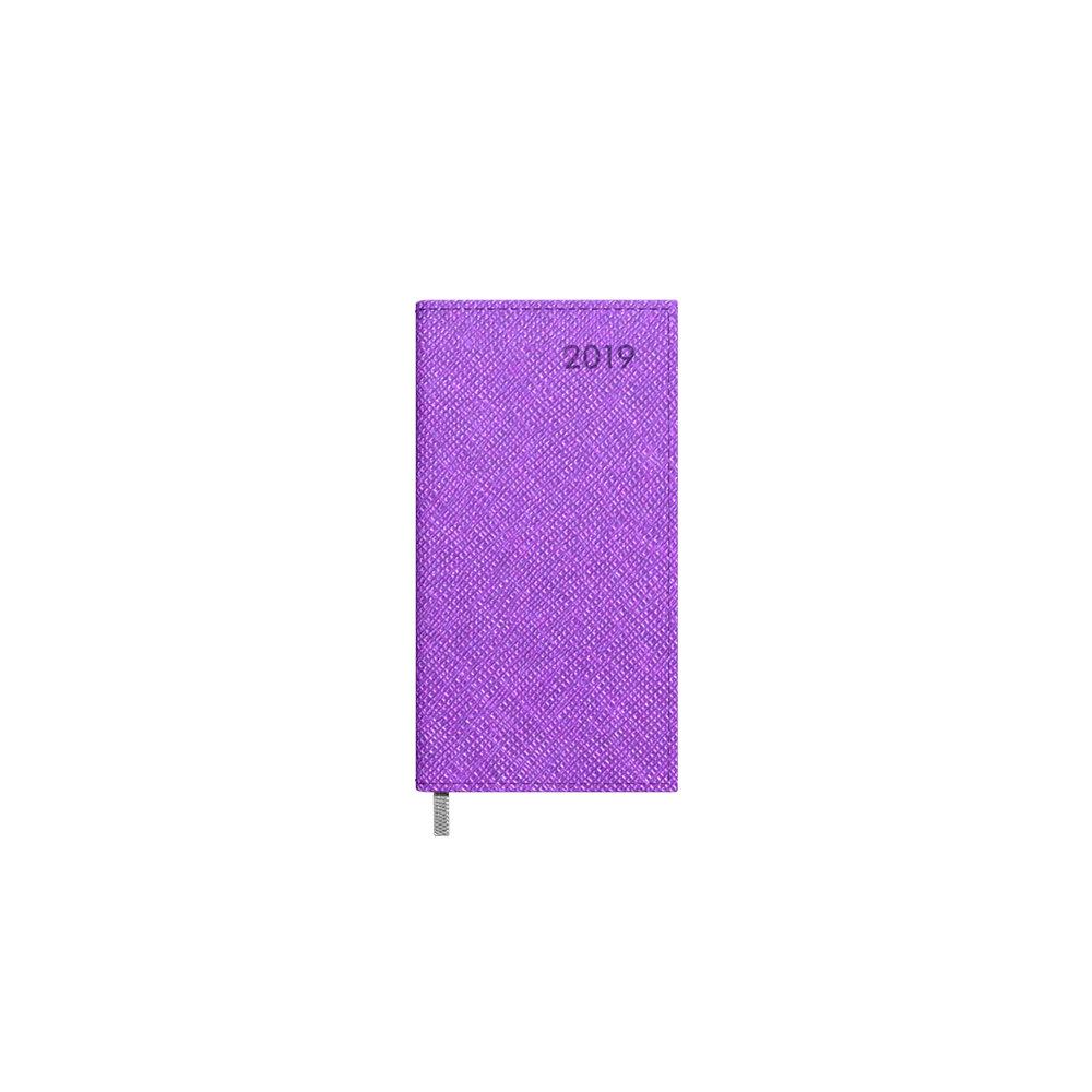 Kalendorius Timer Midi Vivella 2019 metai, 2417511221 tamsiai alyvinis