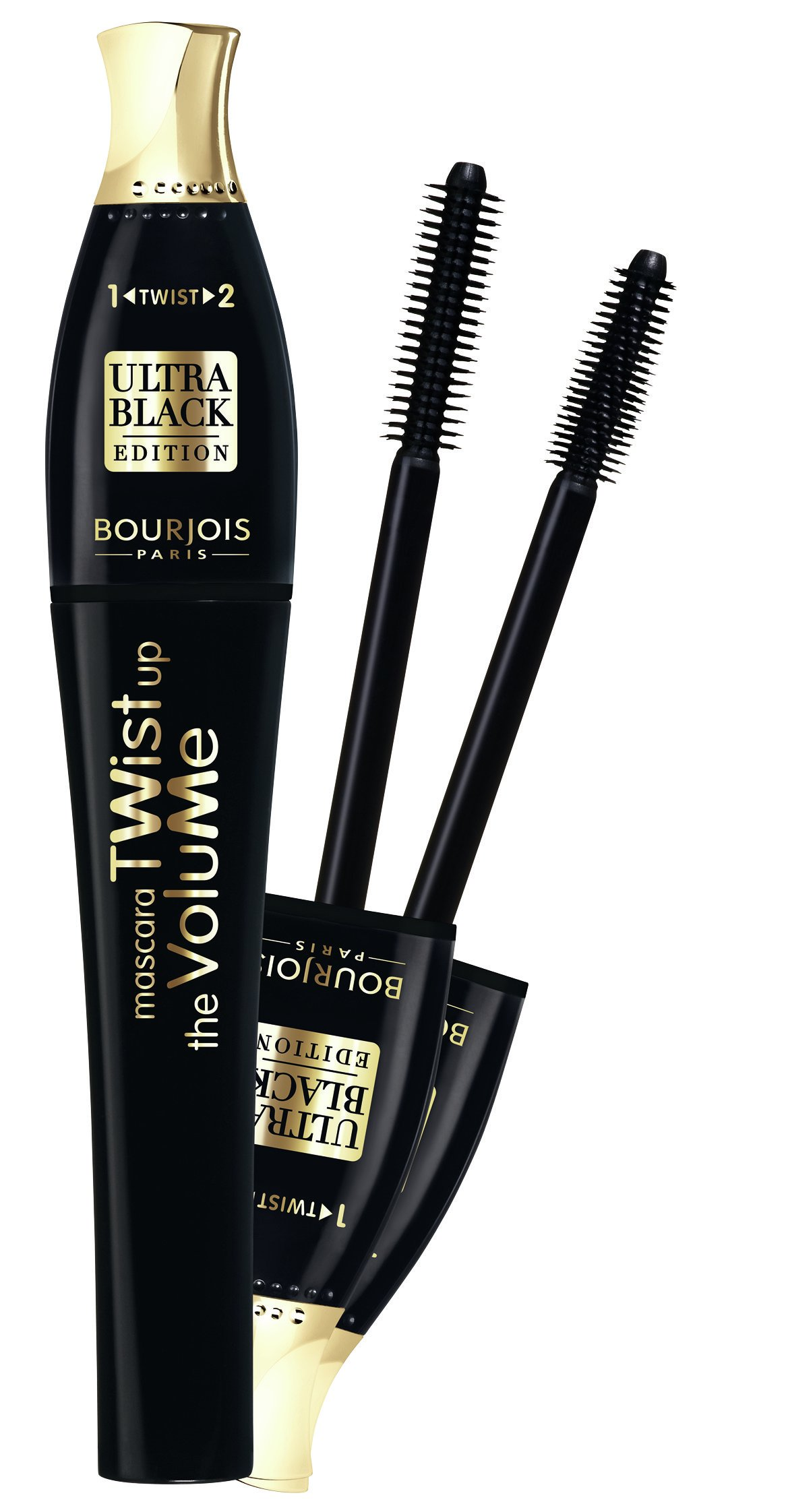Blakstienų tušas Bourjois Twist Up The Volume Ultra Black Edition