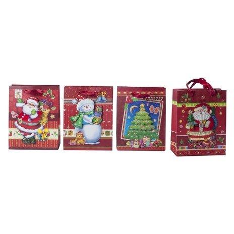 Dovanų maišelis Kalėdos 18 x 8,5 x 23 cm