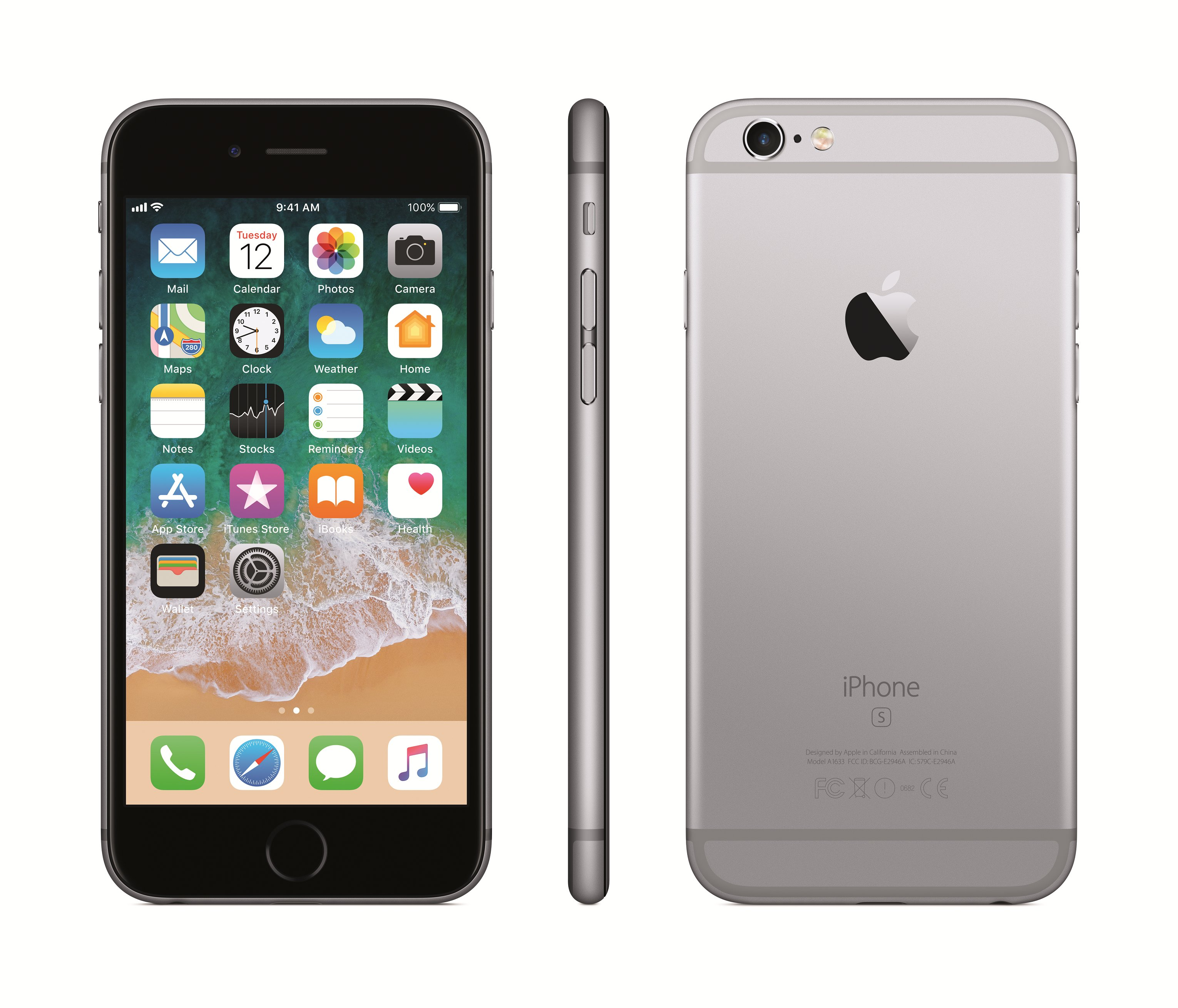 Apple iPhone 6s 128GB, Pilka