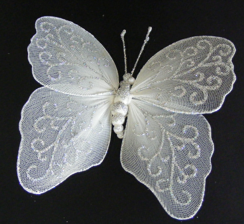 Dekoracija drugelis, 1 vnt., įv. spalvų